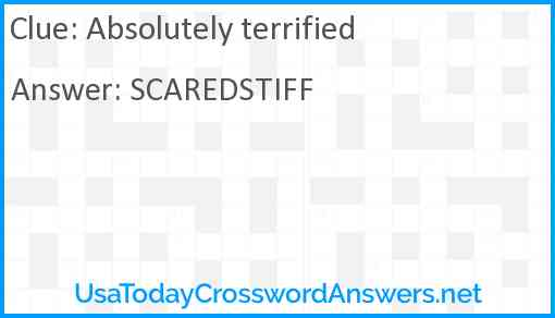 Absolutely terrified Answer
