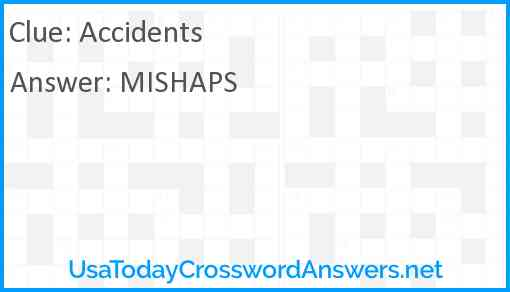 Accidents Answer