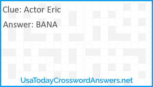 Actor Eric Answer