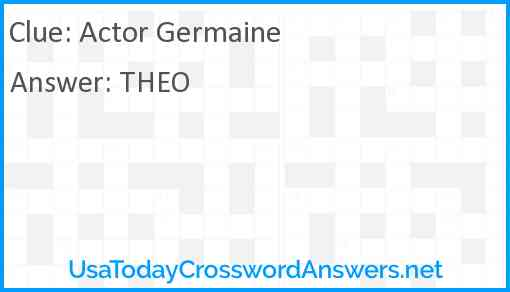 Actor Germaine Answer