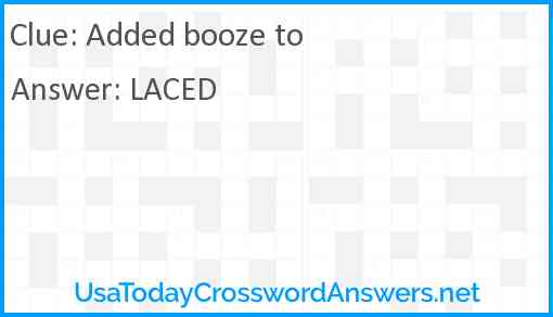 Added booze to Answer