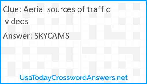 Aerial sources of traffic videos Answer