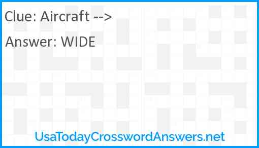 Aircraft --> Answer