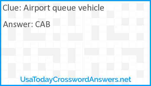 Airport queue vehicle Answer