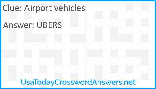 Airport vehicles Answer