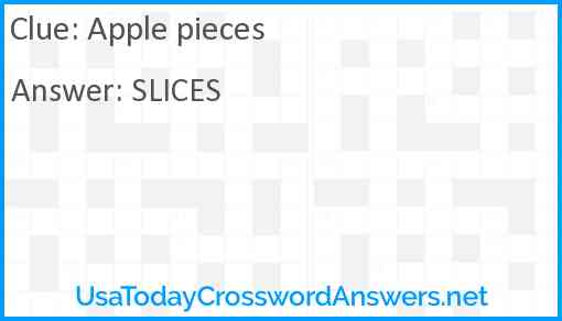 Apple pieces Answer