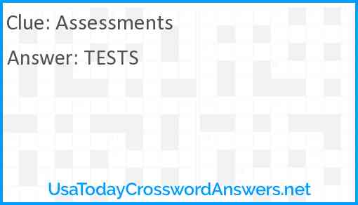 Assessments Answer