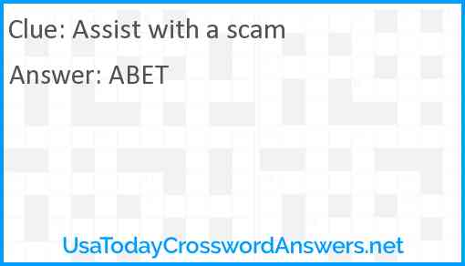Assist with a scam Answer