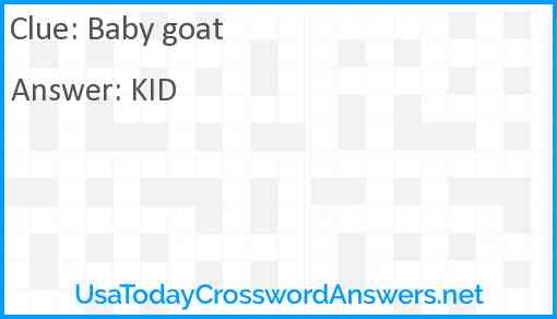 Baby goat Answer