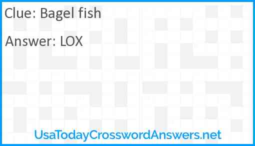 Bagel fish Answer