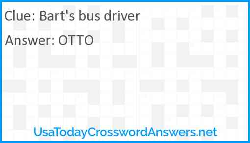 Bart's bus driver Answer
