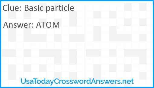 Basic particle Answer
