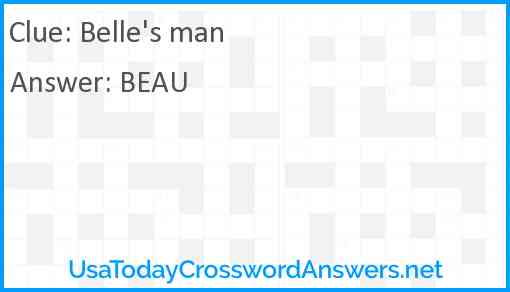 Belle's man Answer
