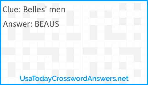 Belles' men Answer