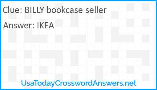 BILLY bookcase seller Answer