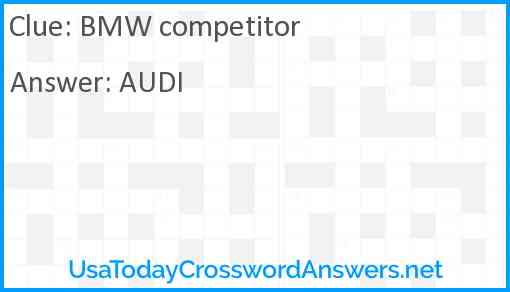 BMW competitor Answer