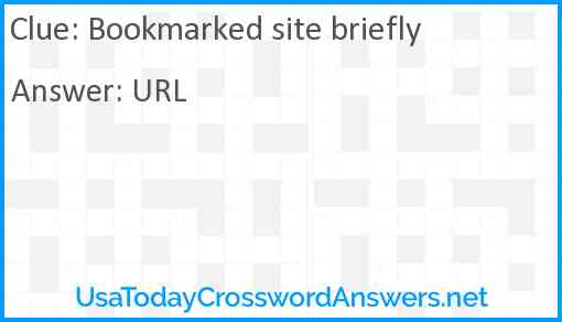 Bookmarked site briefly Answer