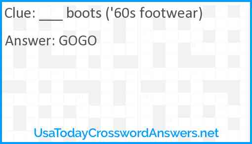 ___ boots ('60s footwear) Answer