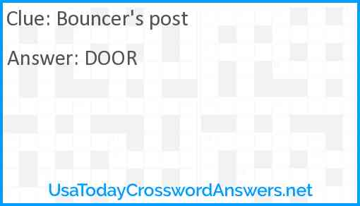 Bouncer's post Answer