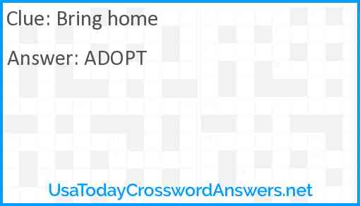 Bring home Answer