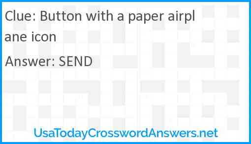 Button with a paper airplane icon Answer