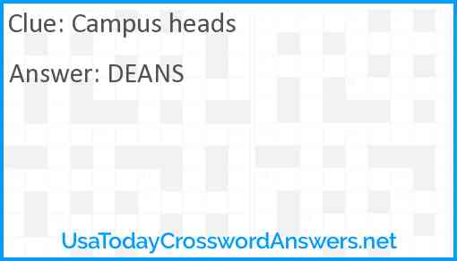 Campus heads Answer