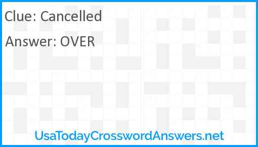 Cancelled Answer