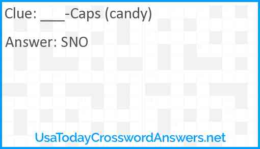 ___-Caps (candy) Answer