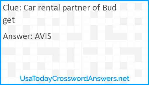 Car rental partner of Budget Answer