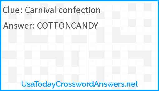 Carnival confection Answer