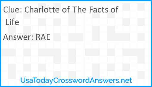 Charlotte of The Facts of Life Answer