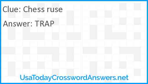 Chess ruse Answer