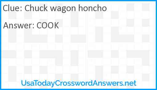 Chuck wagon honcho Answer