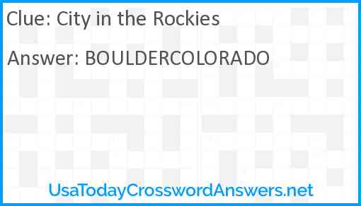 City in the Rockies Answer