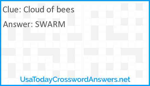 Cloud of bees Answer