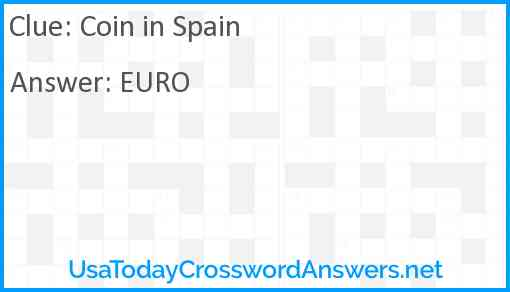 Coin in Spain Answer