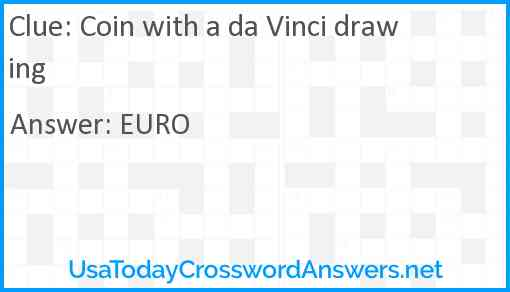 Coin with a da Vinci drawing Answer