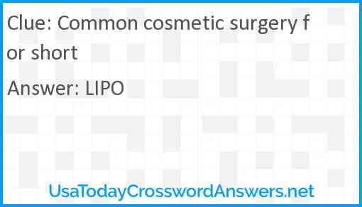 Common cosmetic surgery for short Answer