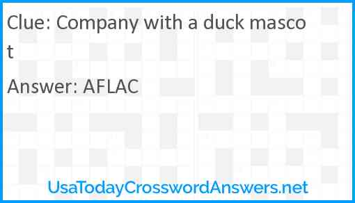 Company with a duck mascot Answer