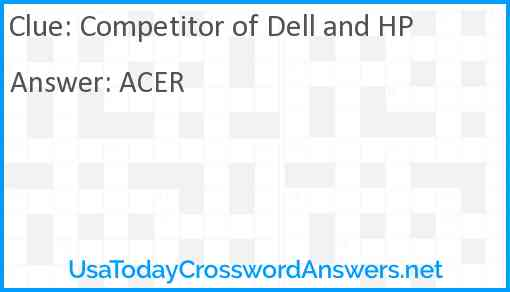 Competitor of Dell and HP Answer