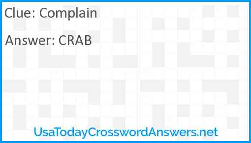 Complain Answer