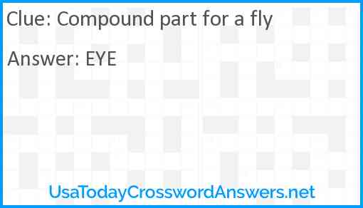 Compound part for a fly Answer