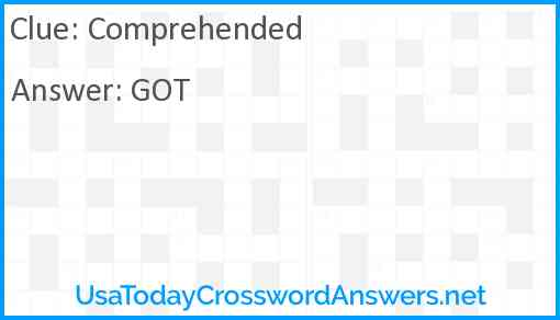 Comprehended Answer