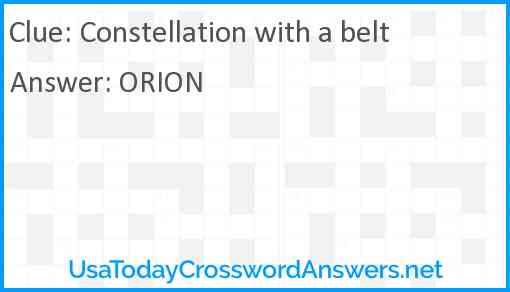 Constellation with a belt Answer