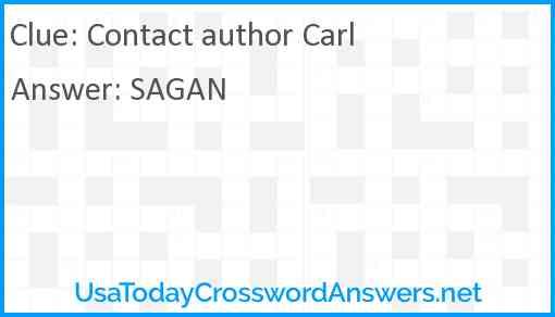 Contact author Carl Answer