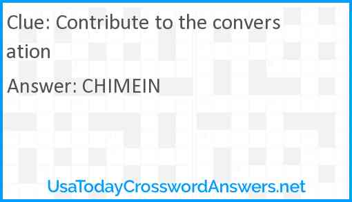 Contribute to the conversation Answer