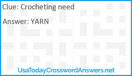 Crocheting need Answer