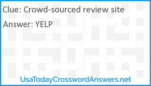 Crowd-sourced review site Answer