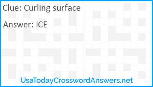Curling surface Answer