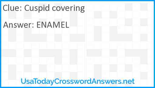 Cuspid covering Answer